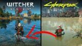 The Witcher 3 vs Cyberpunk 2077 Next Gen Water Physics