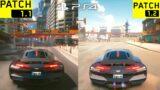 CYBERPUNK 2077 PS4 PATCH 1.2 VS 1.11 Gameplay & Graphics Comparison! (Free Roam)