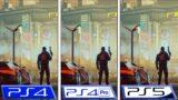 Cyberpunk 2077   PS4 – PS4 Pro – PS5   Patch 1.2 Graphics Comparison