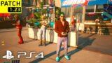 CYBERPUNK 2077 PATCH 1.23 HOTFIX PS4 Slim Gameplay – Walking Around the Streets of Night City!
