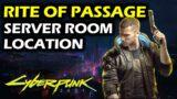 Rite of Passage: Go To The Server Room | Side Gig | Cyberpunk 2077 Walkthrough
