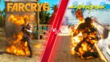 Far Cry 6 vs Cyberpunk 2077 – Direct Comparison! Attention to Detail & Graphics! PC ULTRA 4K